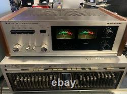 Vintage 1970s KENWOOD KF-8011 Audio De-Noiser large VU meters great working