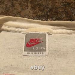 Vintage 1989 Michael Jordan Nike Mens Size Large T Shirt Last Dance Silver Tag