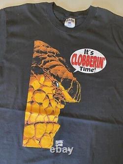 Vintage 1997 Marvel Comics The Thing Comic Promo Black Shirt L Comicbook RARE