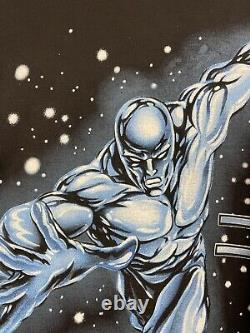 Vintage 2001 Silver Surfer Marvel Comic Graphic Promo Tee Shirt Size Large