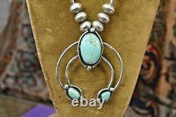Vintage 925 sterling silver large 27 bench bead Naja necklace 76gr