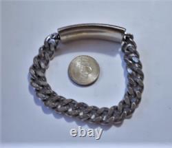 Vintage ANSON Sterling Silver Large Heavy ID Bracelet