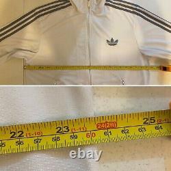 Vintage Adidas Originals ADI-Firebird Tracksuit White Silver Size L