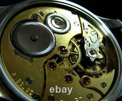 Vintage Art Deco Marriage luxury Watch Antique 1919 Chronometer Large Steel Case