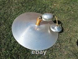 Vintage Atomic Flying Saucer UFO Disc Ceiling Light Fixture Danish Mid Century