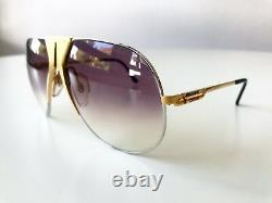 Vintage BOEING by Carrera 5701 large sunglasses gold silver rare Germany aviator