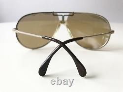 Vintage CAZAL 901 TARGA sunglasses col 52 gold silver W. Germany LARGE rare 902