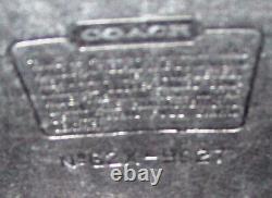 Vintage COACH WILLIS CROSSBODY MESSENGER Purse BLACK LEATHER #9927 Silver