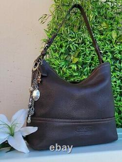 Vintage Coach BROWN Pebble Shoulder Leather Bucket shopper tote purse bag #5715