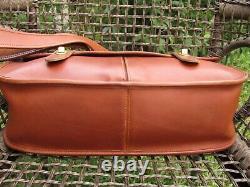 Vintage Coach Carrier Bag Messenger in British Tan Leather Briefcase