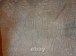 Vintage Egyptian Assuit Silver Shawl large art deco scarf 2lbs+