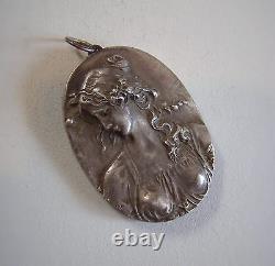 Vintage Henryk Winograd HW999 Silver Large Antique Art Nouveau Pendant