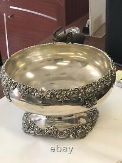 Vintage International Barbour Sterling Silver Large Ornate Bowl 56.4oz