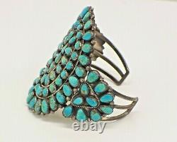 Vintage J. M. Begay Sterling Silver & Turquoise Large Cuff Bracelet