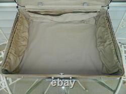 Vintage Large 24 Halliburton Aircraft Aluminum Suitcase Case 24 x 8 x 18