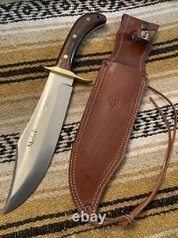 Vintage Large Muela Lenador Bowie Survival Hunting Fighting Knife WithCase