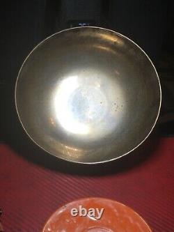 Vintage Large Solid Silver 900 Pedestal Bowl 300 Grams