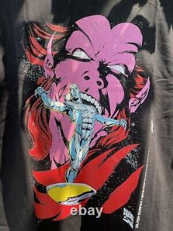Vintage Marvel Silver Surfer All Over Print Shirt-Sz Large