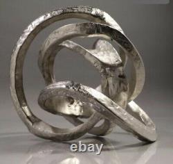 Vintage Mid Century Modern Style Abstract Metal Knot Sculpture