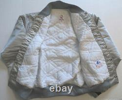 Vintage NBA San Antonio Spurs Starter Jacket Early 90s, Silver withFiesta Logo
