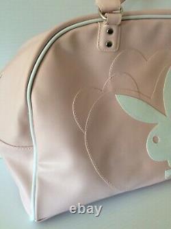 Vintage Playboy Bunny Large Purse Pink White Playboy Handbag Duffle Bag