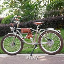 Vintage Retro eBike, Electric Bicycle 48V 500W 24 Fat tire Disc Brake E-Bike