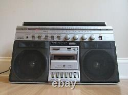 Vintage ghetto blaster boombox LARGE GE General Electric 3-5258A radio cassette
