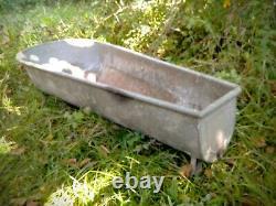 Vintage old Large Zinc Bath galvanized bath tin metal bath tub /washing 175 cm