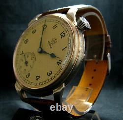 4095 Junghans Astra Vintage Wwii Era Grand Pilote De Wristwatch