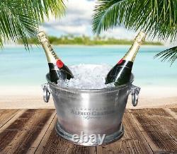 Alfred Gratien Grand Vintage Oval Champagne Wine Ice Cooler Silver Bucket