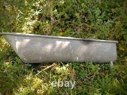 Ancien Vieux Bain Grand Zinc Bain Galvanisé Baignoire Étain Métal Baignoire / Lavage 175 CM