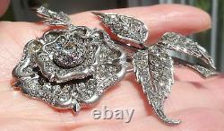 Antique Français Sterling Pate Grande Tudor Rose Flower Pin Meilleur Sur Ebay Vieux
