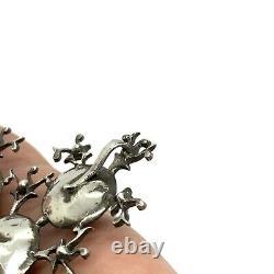 Antique Géorgien Sterling Silver Paste Grand Pendentif. Entièrement Hallmarked. 2.7/8