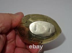 Antique / Vintage Unusual Grand Argent Plaqué Sampson Mordan Chick Pin Coussin