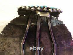Argent Vintage Grand Sterling Navajo Turquoise Bracelet