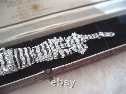 Art Déco Vintage Jewellery Large Silver Tiger Broche Pin Bijoux Antiques