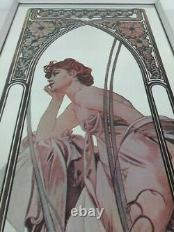 Art Nouveau Vintage Mirror Alphonse Mucha Reverie De Soir Grand Design Intérieur