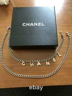 Auth Chanel Ceinture Chaîne Logo Argent L95cm Collier Vintage F / S