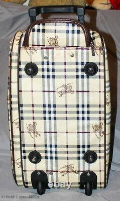 Authentic Vintage Burberry Haymarket Sac À Bagage Rolling Belle