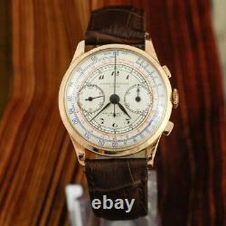 Authentique Baume Mercier Chronograph 18k Solid Gold Large Swiss Made Gents Watch