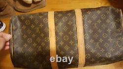 Authentique Louis Vuitton Vintage LV Monogram Keepall 45 Fourre-tout Bag Duffle Bagages