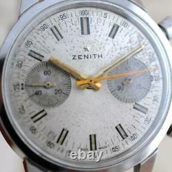 Authentique Zenith Chronograph Cal 146 Large Vintage Manual Wind Original Dial