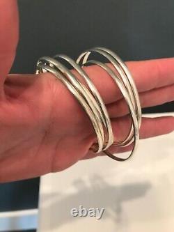 Awesome Silver Sterling Bracelets Bracelets Grand Lot De 7 Mexique 925 Vintage Boho