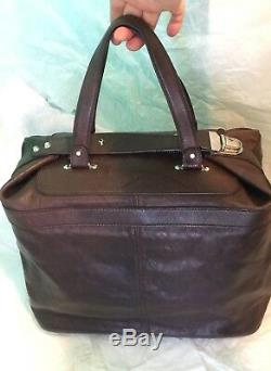 Balenciaga Sac Classique En Cuir Tote Voyage Hardware Argent Brown Vintage Unisexe