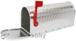 Boîte Aux Lettres Américaine D'aluminium De Boîte Aux Lettres De Courrier Des Etats-unis Avec Le Drapeau Rouge Pliant