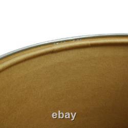 Boîte De Rangement Hermes Logos Drum Saddle Can Brown Silver Vintage Ak25433e