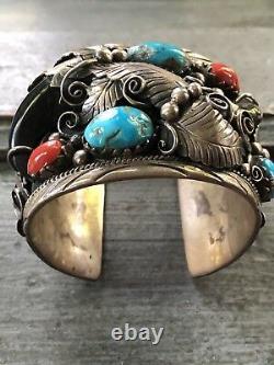 Bracelet De Manchette En Argent Sterling En Argent Sterling En Argent Sterling De Pierre Sterling De Navajo