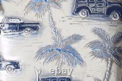 Brahmin Elisa Hobo Blue Copa Cabana White Silver Satchel Palm Cars Collectionneurs