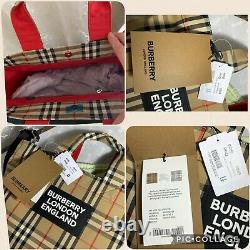 Burberry 100% Geniune Artie Vintage Check Tote Bag New Collec 20/21 Rrp £620