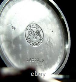 Cadeau De Luxe Pour Hommes Antique 1937 Grand Mariage Pocket Watch Longines Movmnt